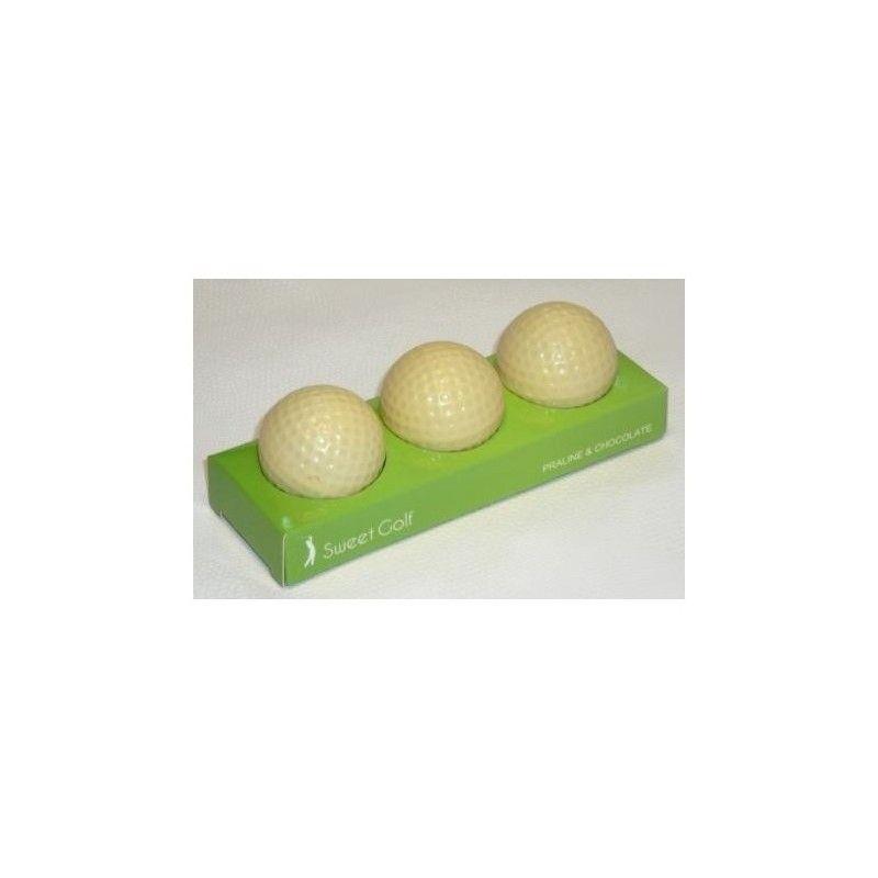 bolas de golf de chocolate