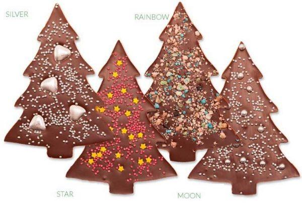 abeto navidad de chocolate decorado