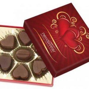 caja con bombones corazon