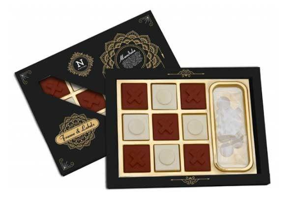 chocolate con un juego