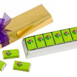 caja lingote con chocolatinas