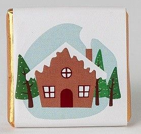 napolitana de chocolate vitola dibujo navidad