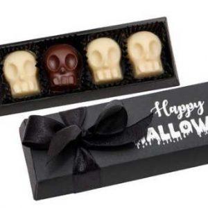 caja bombones calavera para halloween