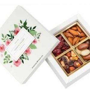 frutos secos en caja personalizada