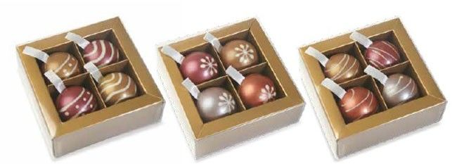 bola de chocolate decorada navidad