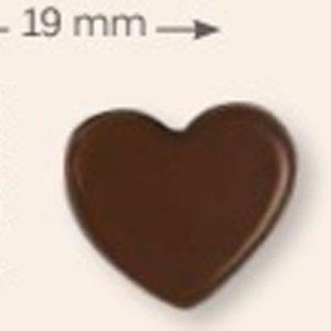 mini corazon chocolate con leche