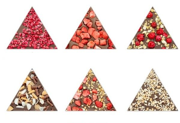 placa de chocolate triangular
