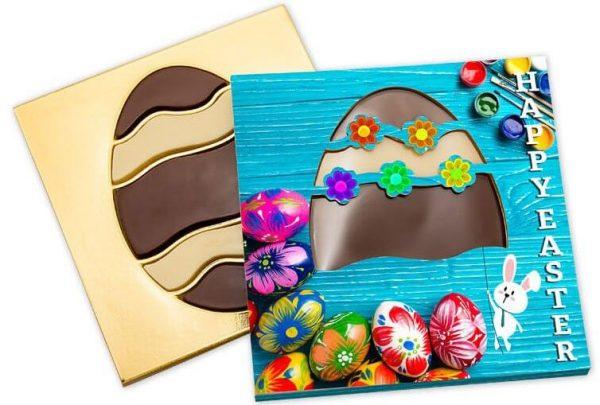 Huevo de chocolate en caja personalizada