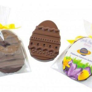 Huevo de chocolate plano para Pascua