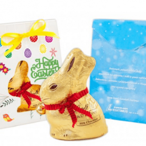 Conejo Lindt en caja personalizada
