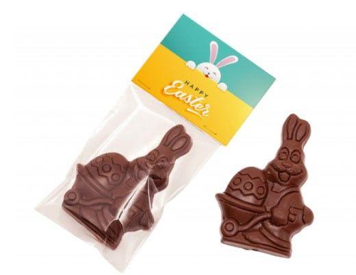 conejo de chocolate en bolsa