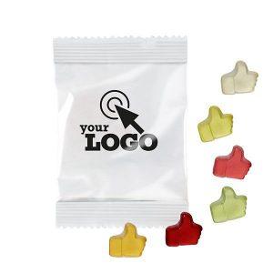 caramelos de goma en bolsita personalizada