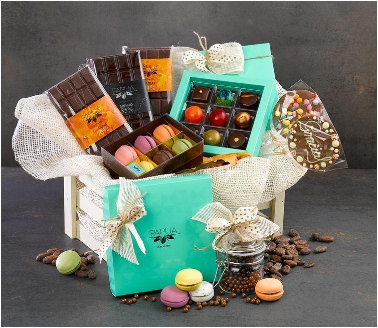 bonitas y ricas cestas de chocolate