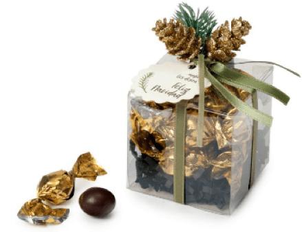 caja cubo navidad