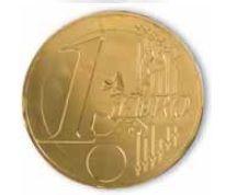moneda de chocolate dorada
