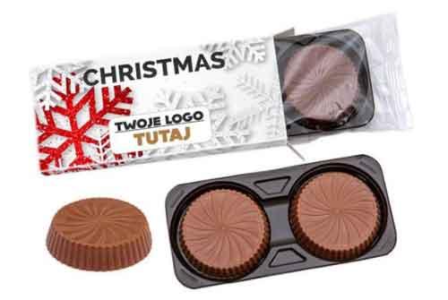 cajita dos bombones chocolate