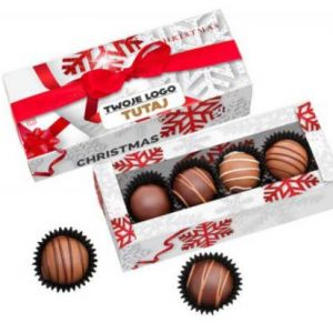 cajita trufas chocolate belga